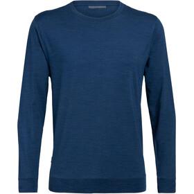 Icebreaker Nature Dye Drayden T-shirt manches longues à col ras-du-cou Homme, true indigo dark
